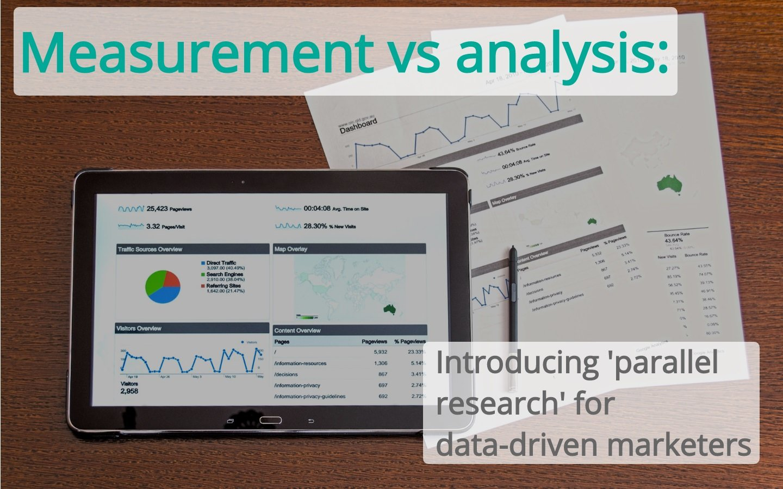 Measurement vs analysis