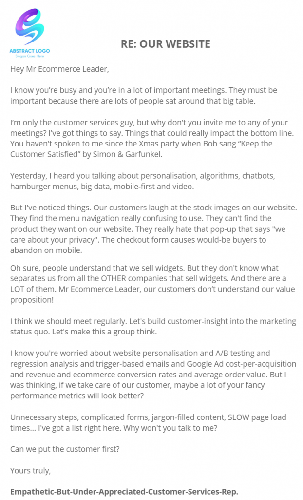 A Letter To Ecommerce Business Leaders