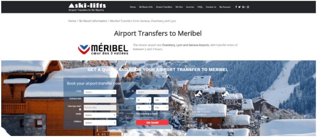 Ski-Lifts Landing Page